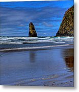 Haystack Rock And The Needles II Metal Print by David Patterson