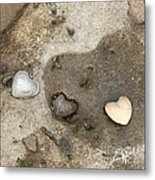 Heart Rock Love Metal Print by Artist and Photographer Laura Wrede