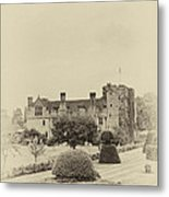 Hever Castle Yellow Plate 2 Metal Print by Chris Thaxter