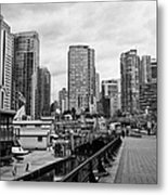 high rise apartment condo blocks in the west end coal harbour marina Vancouver BC Canada Metal Print by Joe Fox