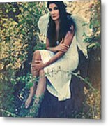 I Believe In Angels Metal Print by Laurie Search