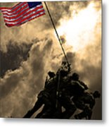 I Pledge Allegiance To The Flag - Iwo Jima 20130211v2 Metal Print by Wingsdomain Art and Photography