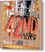 Iconic 42nd Street-nyc Metal Print by Linda  Parker