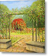 In The Rose Garden Metal Print by Kiril Stanchev