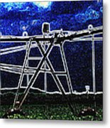 Irrigation Metal Print by Wendy J St Christopher