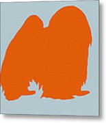 Japanese Chin Orange Metal Print by Naxart Studio