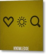 Knowledge Metal Print by Aged Pixel