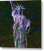 Lady Liberty 20130115 Metal Print by Wingsdomain Art and Photography