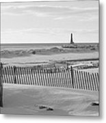 Lake Michigan Don't Fence Me In Metal Print by Rosemarie E Seppala