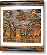 Land Of World 8624042 Framed Metal Print by Betsy C Knapp