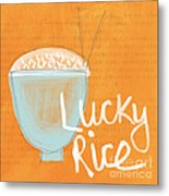 Lucky Rice Metal Print by Linda Woods