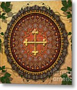 Mandala Armenian Cross Sp Metal Print by Bedros Awak