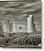 Modern Buenos Aires Black And White Metal Print by For Ninety One Days