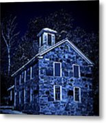 Moonlight On The Old Stone Building  Metal Print by Edward Fielding