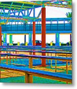 More Lines In Colors Metal Print by Wendy J St Christopher