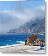 Mountains Sea Sky Metal Print by Boon Mee