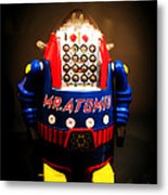 Mr. Atomic Tin Robot Metal Print by Edward Fielding