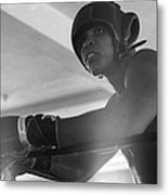 Muhammad Ali Gloves Resting On Ropes Metal Print by Retro Images Archive
