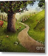 Nature Design - Apple Orchard Metal Print by Mythja  Photography