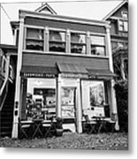 neighbourhood grocery and small deli in west end Vancouver BC Canada Metal Print by Joe Fox
