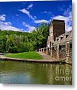 North Park Boathouse In Hdr Metal Print by Amy Cicconi