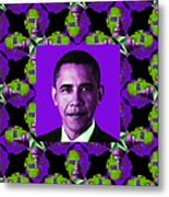 Obama Abstract Window 20130202m88 Metal Print by Wingsdomain Art and Photography