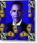 Obama Abstract Window 20130202verticalm118 Metal Print by Wingsdomain Art and Photography
