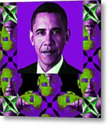 Obama Abstract Window 20130202verticalm88 Metal Print by Wingsdomain Art and Photography