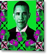 Obama Abstract Window 20130202verticalp128 Metal Print by Wingsdomain Art and Photography