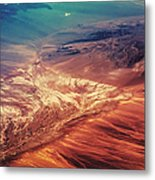 Painted Earth Metal Print by Jenny Rainbow