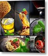 Pasta Collage Metal Print by Mythja  Photography