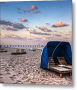 Pink Sands Metal Print by Debra and Dave Vanderlaan