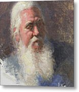 Portrait Of Artist Michael Mentler Metal Print by Anna Rose Bain