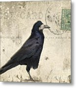 Post Card Nevermore Metal Print by Edward Fielding