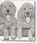Puppy Love Metal Print by Patricia Hiltz