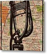 Rca 77 On Austin Map Metal Print by William Cauthern