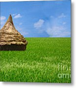 Rice Farming Metal Print by Boon Mee