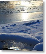River Ice Metal Print by Hanne Lore Koehler