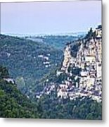 Rocamadour Midi Pyrenees France Panorama Metal Print by Colin and Linda McKie