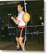 Rocky Marciano Training Hard Metal Print by Retro Images Archive