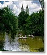 Rowboats Central Park New York Metal Print by Amy Cicconi