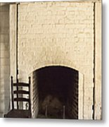 Seat By The Hearth Metal Print by Margie Hurwich