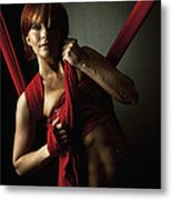 Series In Red Silk Knot Metal Print by Monte Arnold
