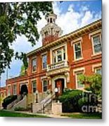 Sewickley Pennsylvania Municipal Hall Metal Print by Amy Cicconi