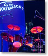 Singapore Drum Set 01 Metal Print by Rick Piper Photography