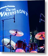 Singapore Drum Set 03 Metal Print by Rick Piper Photography