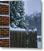 Snowy Corner Metal Print by Steven Ainsworth