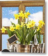 Spring Window Metal Print by Amanda And Christopher Elwell