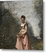 Springtime Of Life Metal Print by Jean Baptiste Camille Corot