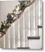Stairs At Christmas Metal Print by Margie Hurwich